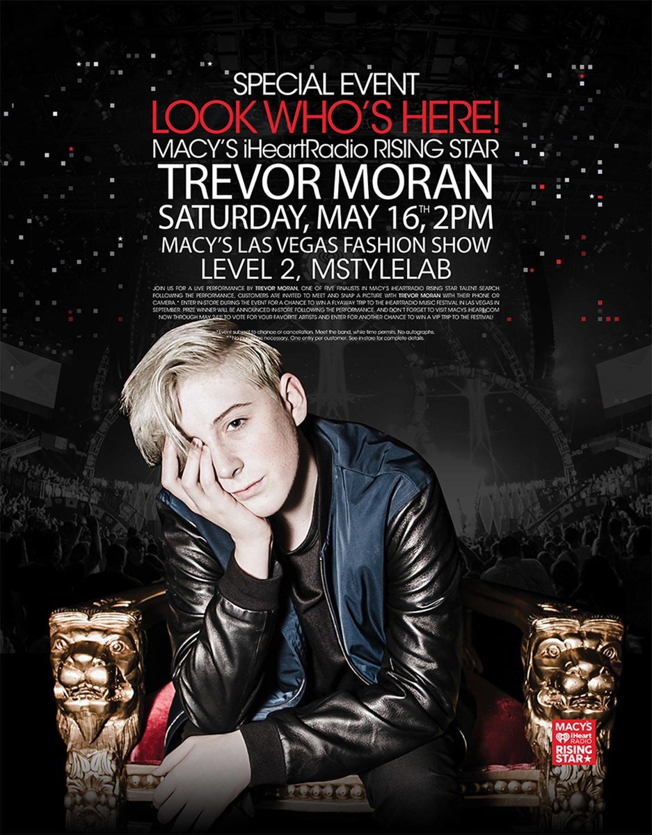 Looking forward to this freebie next week @FashionShowLV w/ @TrevorMoran #RisingStar http://t.co/b6CKxyQNtL