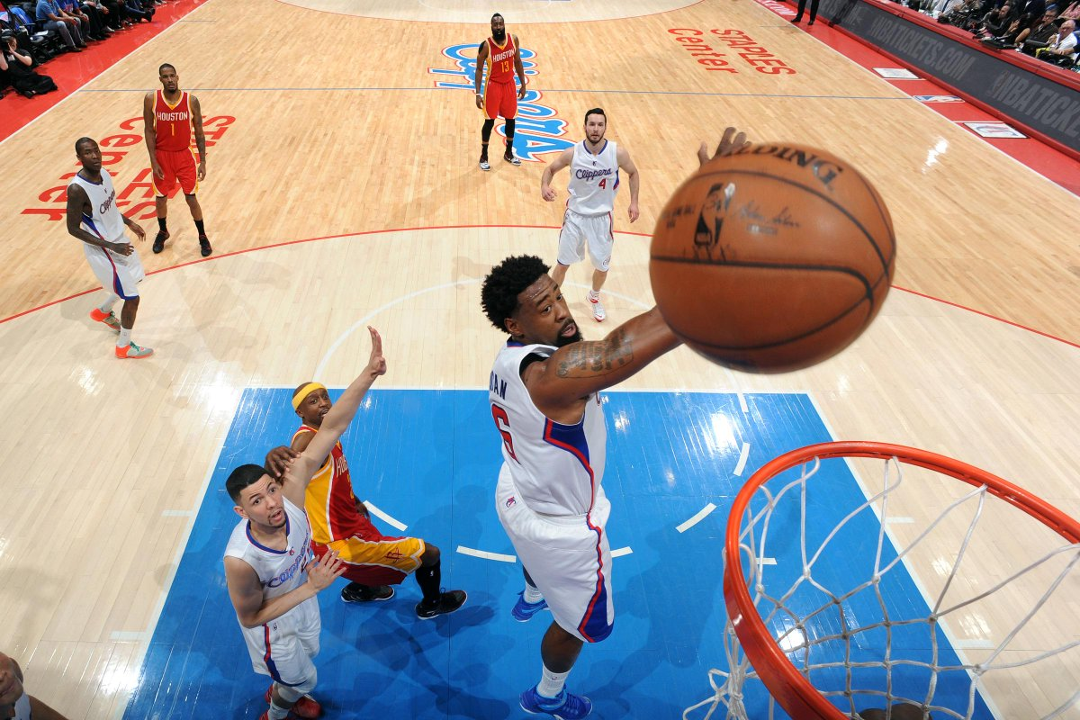 Clippers lead Rockets at half, 60-54. DeAndre Jordan sets playoff record for most FTA in a single half w/ 28 (10-28).