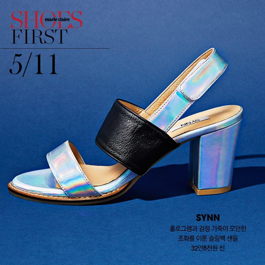 #ShoesFirst 오늘의 슈즈는? #신 마리끌레르 페이스북 팬이 되어, 홀로그램과 검정 가죽이 모던한 조화를 이룬 슬링백 샌들에 응모해보세요! http://t.co/XYMqXLrpR0