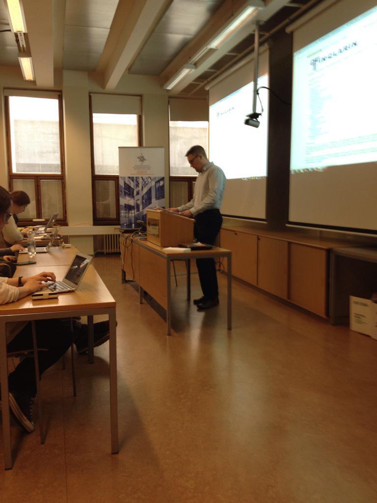 #DHH15 began today, historian Petri Paju as one data set and theme presenter. http://t.co/i6U4MlXgSC