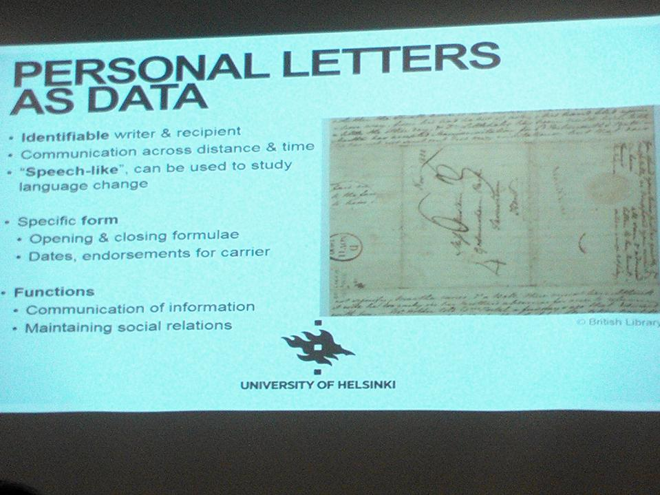 Don't we all love Jane Austen? Her letters are data #dhh15 http://t.co/sVsjGw3tgP