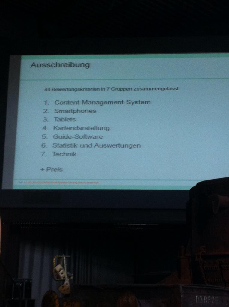 44 Bewertungskriterien in 7 Gruppen #Ausschreibung #Multimedia-Guide #DASA #Holtwick #maitagung http://t.co/hiVczTxWgn
