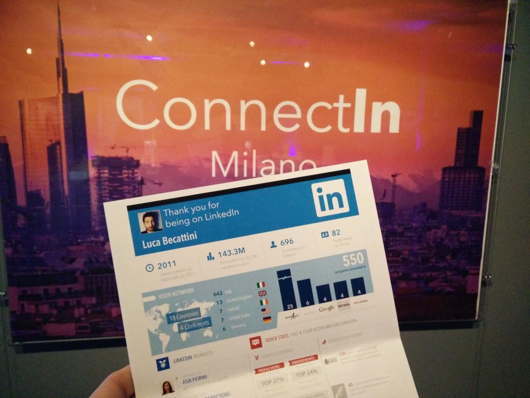 """#ConnectINitalia """"Soluzioni LinkedIn per la Talent Acquisition"""". Infografica personalizzata per ogni partecipante <3 http://t.co/BNTB2G5Coh"""
