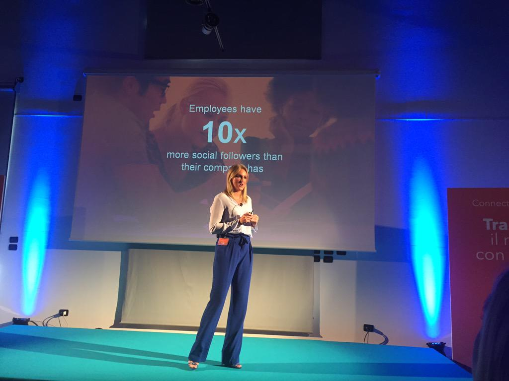 @lindsay_chat: employees overall have 10x more social follower than their company has! #connectinitalia #LinkedIn http://t.co/tvJNGVEdDy
