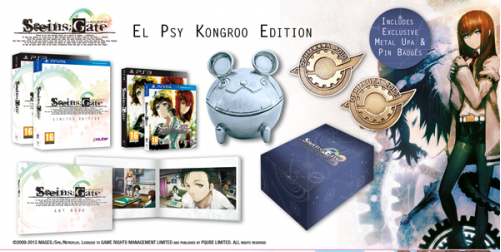 Steins;Gate launches on #Vita & #PS3 soon. Check out @RiceDigital's El Psy Kongroo Edition! >> http://t.co/ICKtan8dY9 http://t.co/d6pqTFoyKz