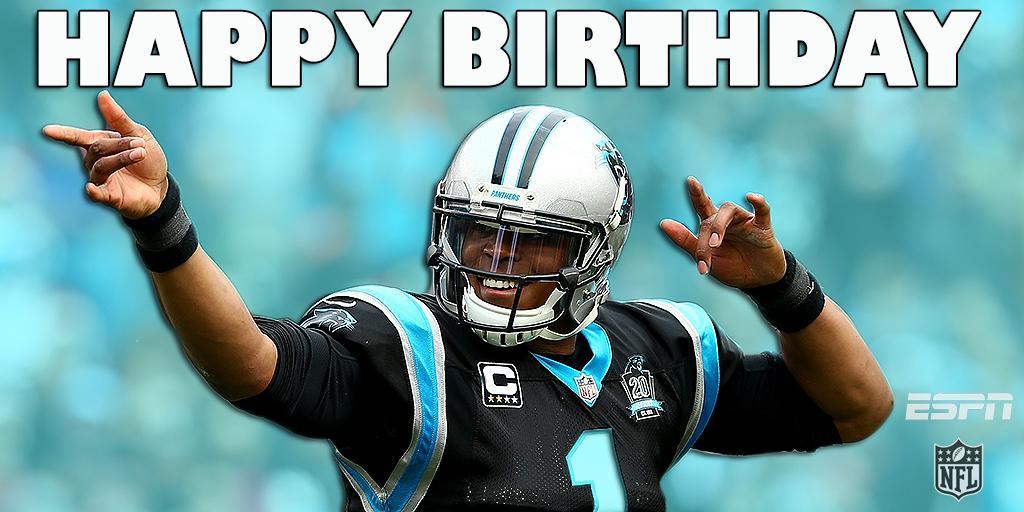 Happy 26th Birthday To Carolina Panthers Qb Cam Newton Scoopnestcom