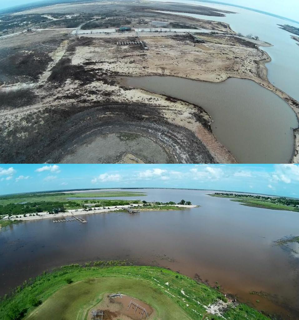 What a difference rain makes: Lake Arrowhead State Park near Wichita Falls March vs May http://t.co/1gXDN67YM7