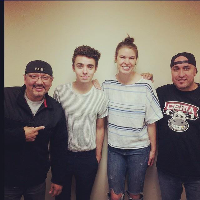 RT @Q1047: Look who's in studio with @ricoandmambo...Nathan Sykes!!!! Make sure to check out his new … http://t.co/BQSZBnvzLC http://t.co/N…