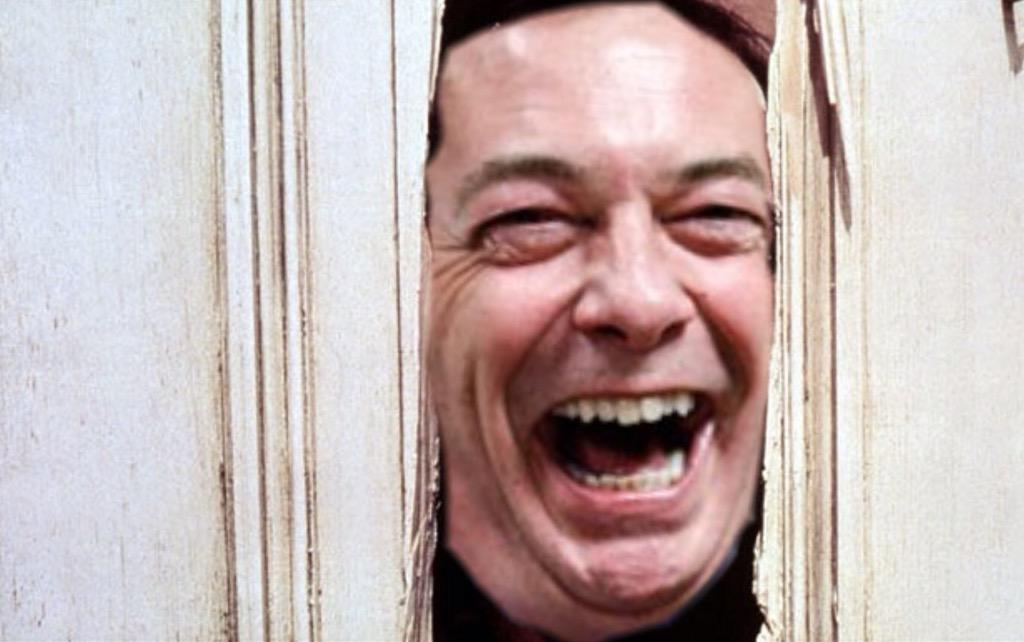 """Here's Nigel!"" #FarageUnresigns http://t.co/6zEgBexd97"