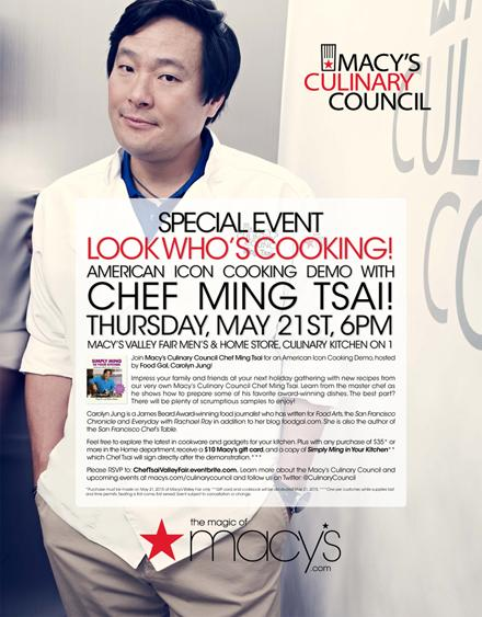 A very special event with yours truly & @chefmingtsai @Macys @westfieldvf @CulinaryCouncil http://t.co/DJ2mvtEYtS http://t.co/GgmKsr0jEy