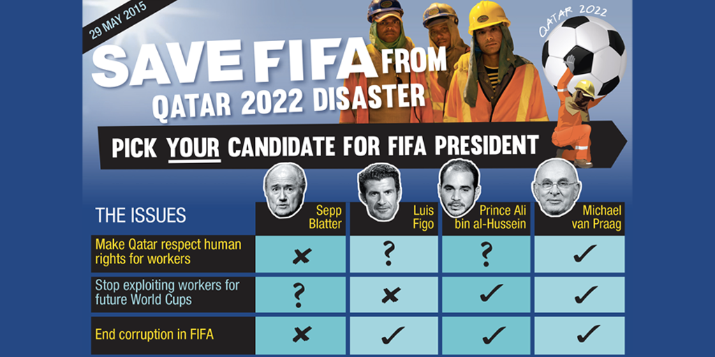 #FIFA Election: @MichaelvanPraag Offers Best Hope for #Qatar Workers & Ending FIFA Corruption http://t.co/kQ210DN3LV http://t.co/jCttRHUppy