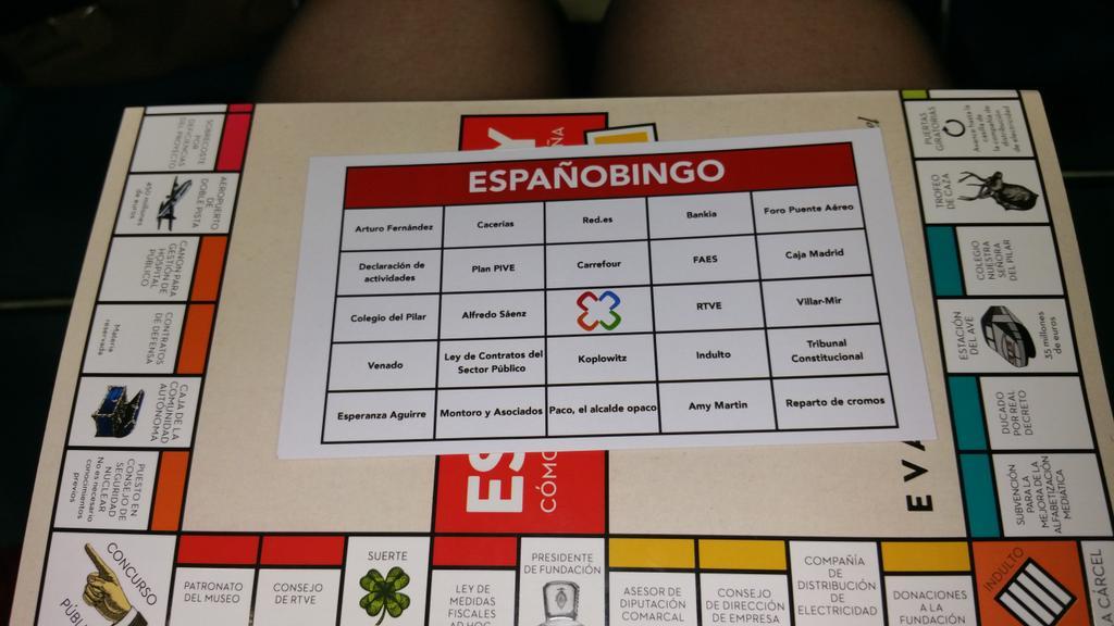 Y vamos a jugar al bingo; ) @evabelmonte #españopoly http://t.co/FTQiRbTL7U