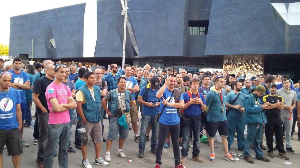 Trabajadores de contratas y subcontratas en Barcelona