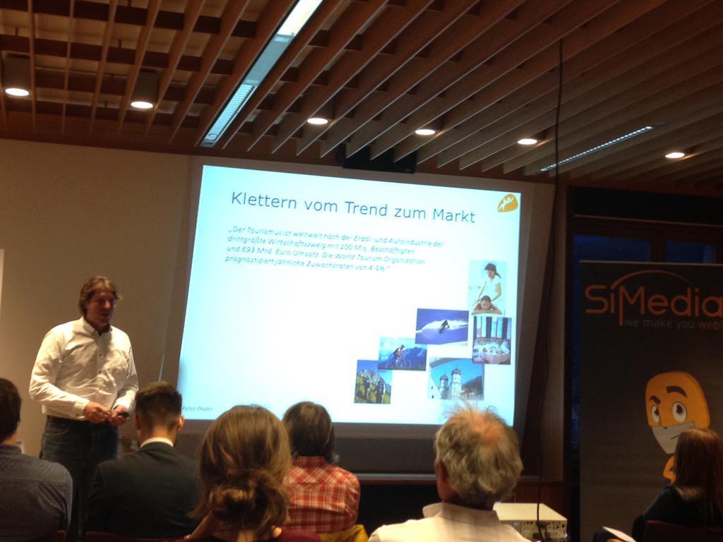 "#TMCbz Nun Gabls Partner Peter Thaler mit dem Thema ""Klettern vom Trend zum Markt"" @ClimbrsParadise http://t.co/liR7Zk5TqU"