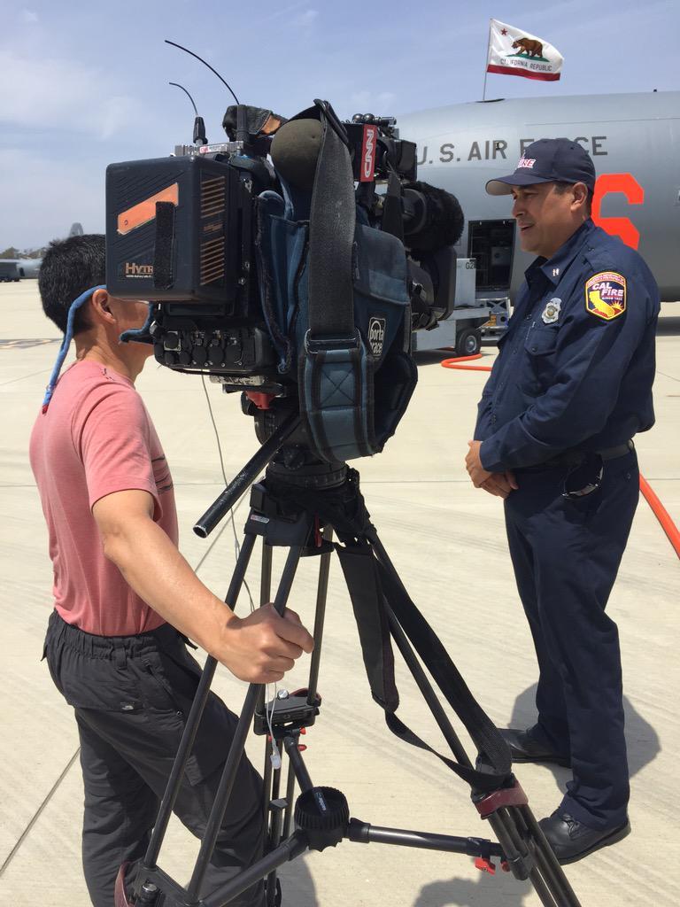 """Fire Captain Richard Cordova talks to CNN @pvercammencnn on partnerships of @CAL_FIRE & @theCaGuard fighting fires."""