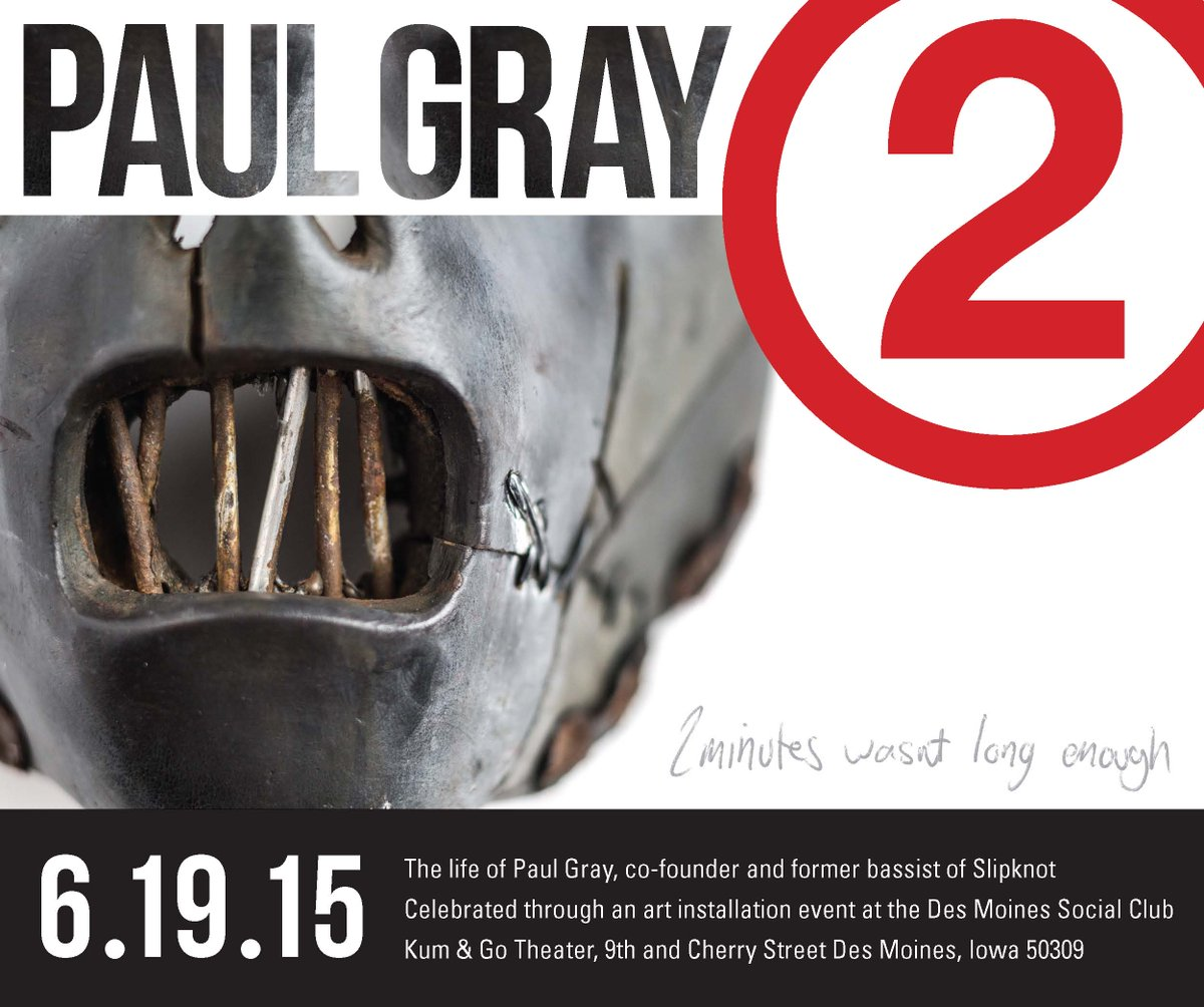 @slipknotdaily thought your followers would be interested in event & book honoring Paul Gray. http://t.co/QBQRn9j1O9 http://t.co/rlSNfzmwx8