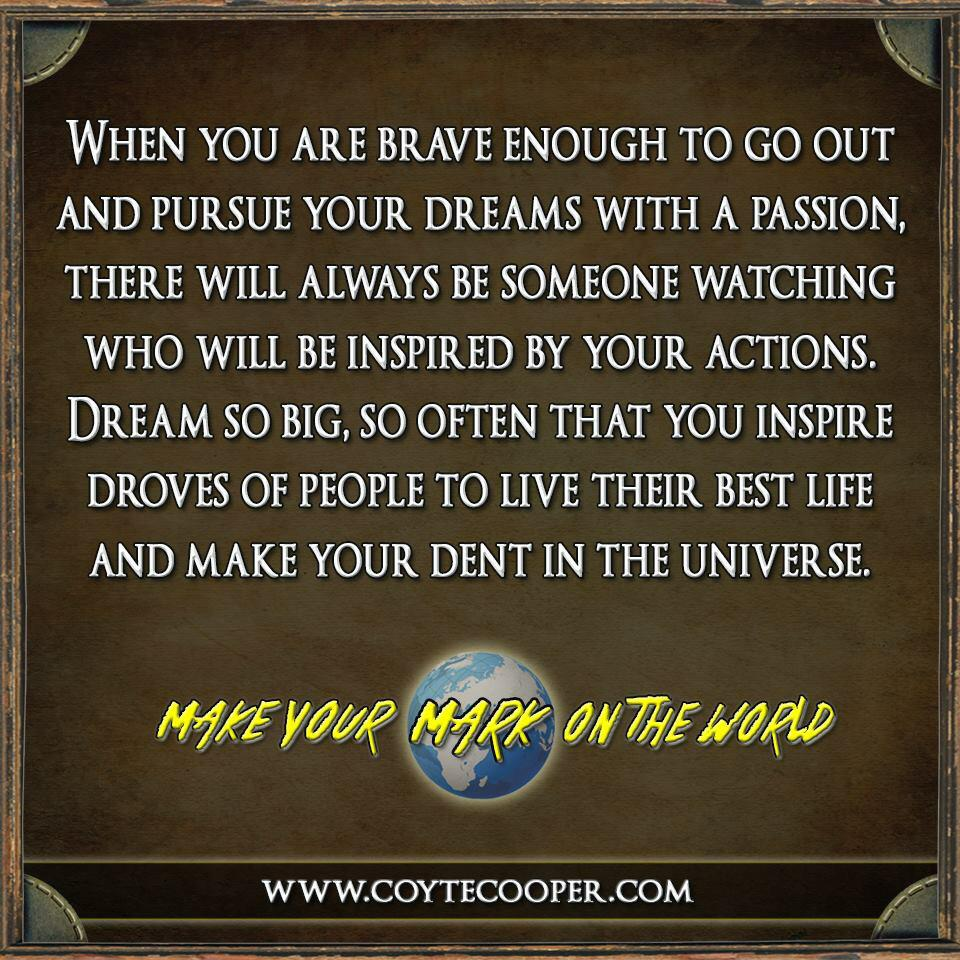 Wright Thurston On Twitter Make Your Mark On The World