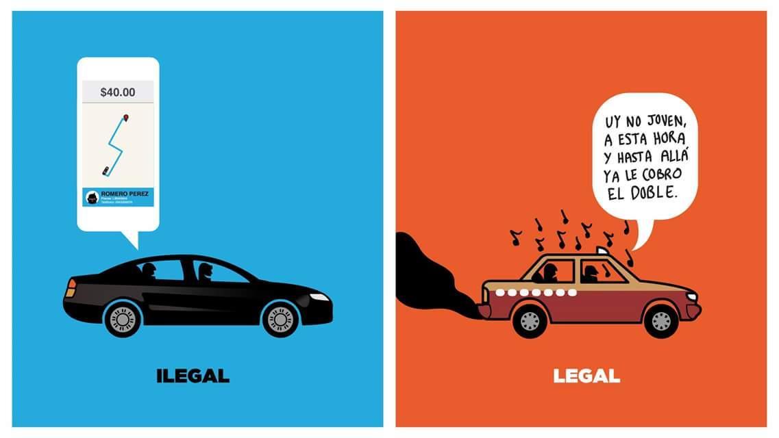 ¿Legal o ilegal? #UberSeQueda ¿A quién debe servir el gobierno, a ciudadanos o a rentistas? #CinismoIlustrado http://t.co/m2WcfSNCkd