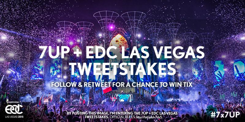 We're giving away tix to @EDC_LasVegas! Follow @7UP & RT for a chance to win. http://t.co/oLvpJ98SQ8 #7x7UP #EDCLV http://t.co/XI44VZj9lm