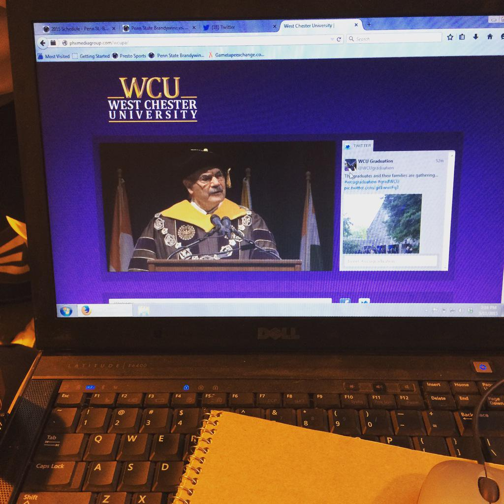 Unable to be at my graduation. But I am glad I can watch online! #wcugraduation 🎓 http://t.co/IuurNpaLy6