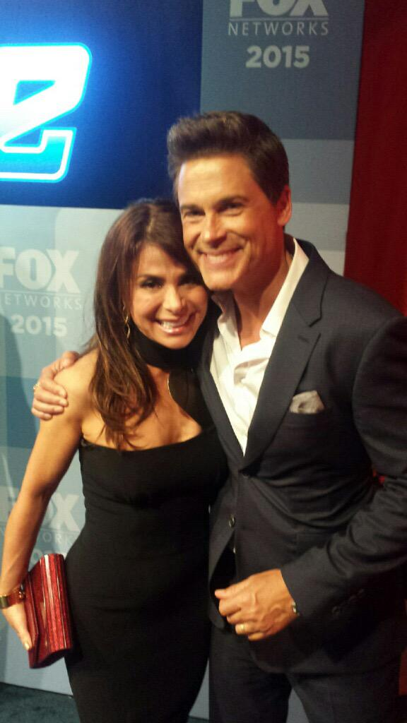 Me and @RobLowe at the #FOXupfronts :)) xoP http://t.co/ifht3Di0IX