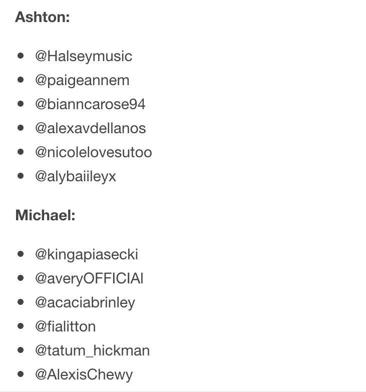 5sos Exposed On Twitter Groupies And Usernames Httptco
