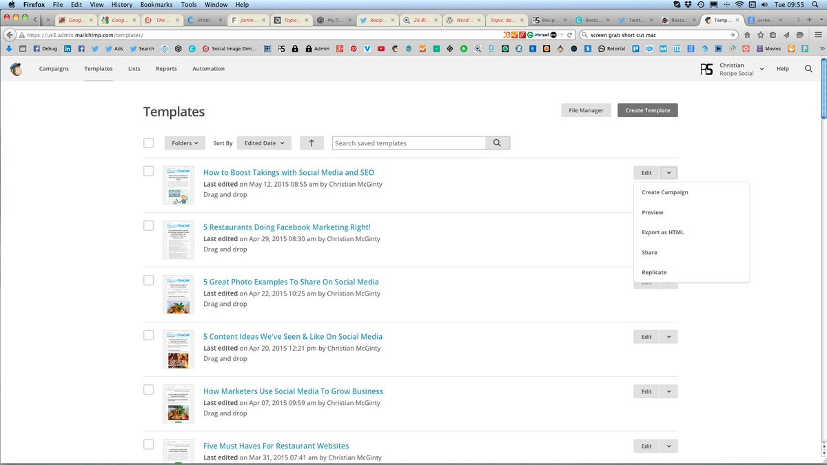 Mailchimp On Twitter Recipesocial Turn The Template Into A