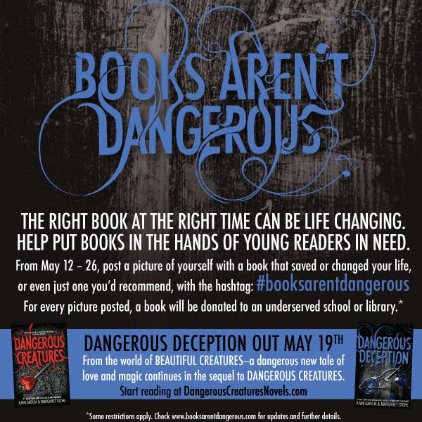 Love books? Help me & @mstohl prove that #BooksArentDangerous & we'll donate to a needy school / library! http://t.co/6ppep1Ghg7