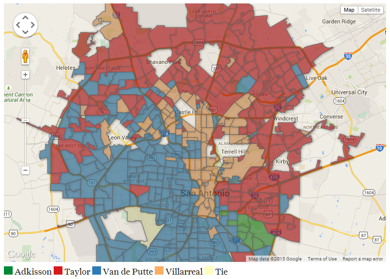 John tedesco on twitter in mayoral election san antonio was a new map of election results via mysapicitter58ypjd2c1q gumiabroncs Gallery