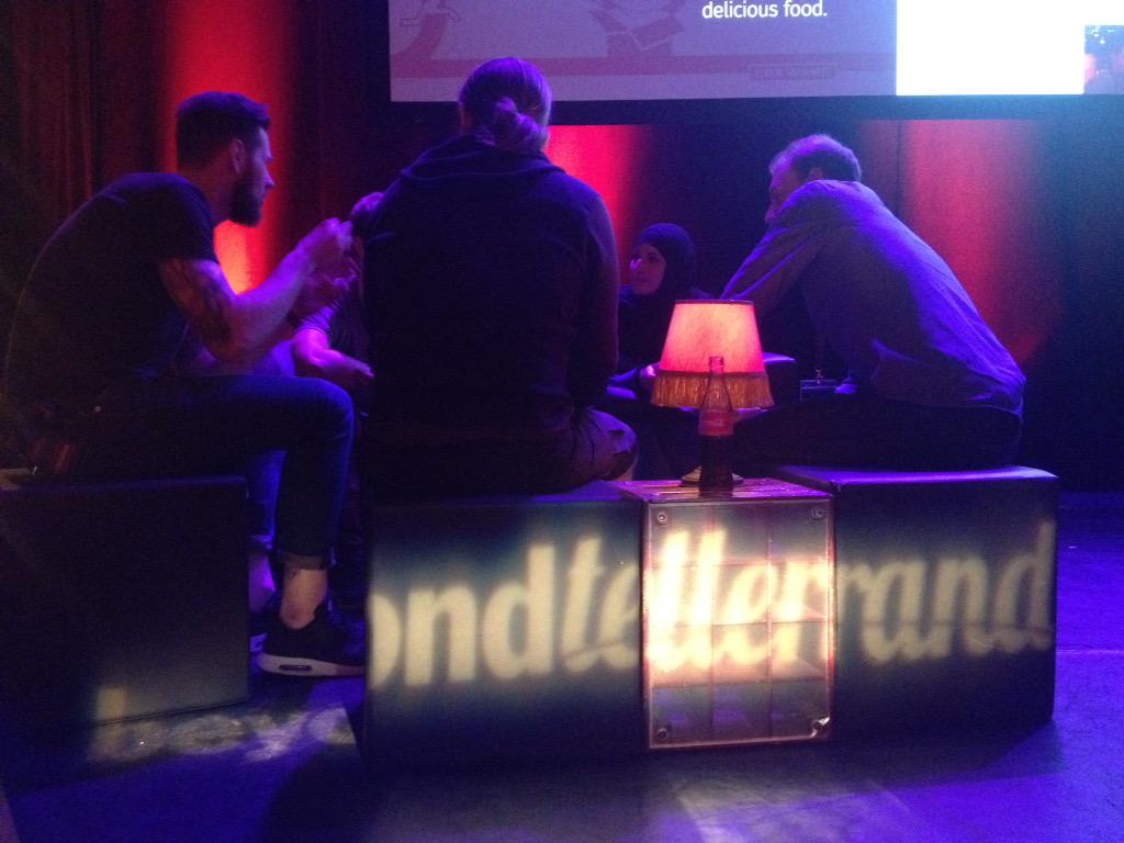 .@drublic @helloanselm @ddprrt @rodneyrehm recording @workingdraft with @SaraSoueidan at #btconf http://t.co/koB38kyWGi
