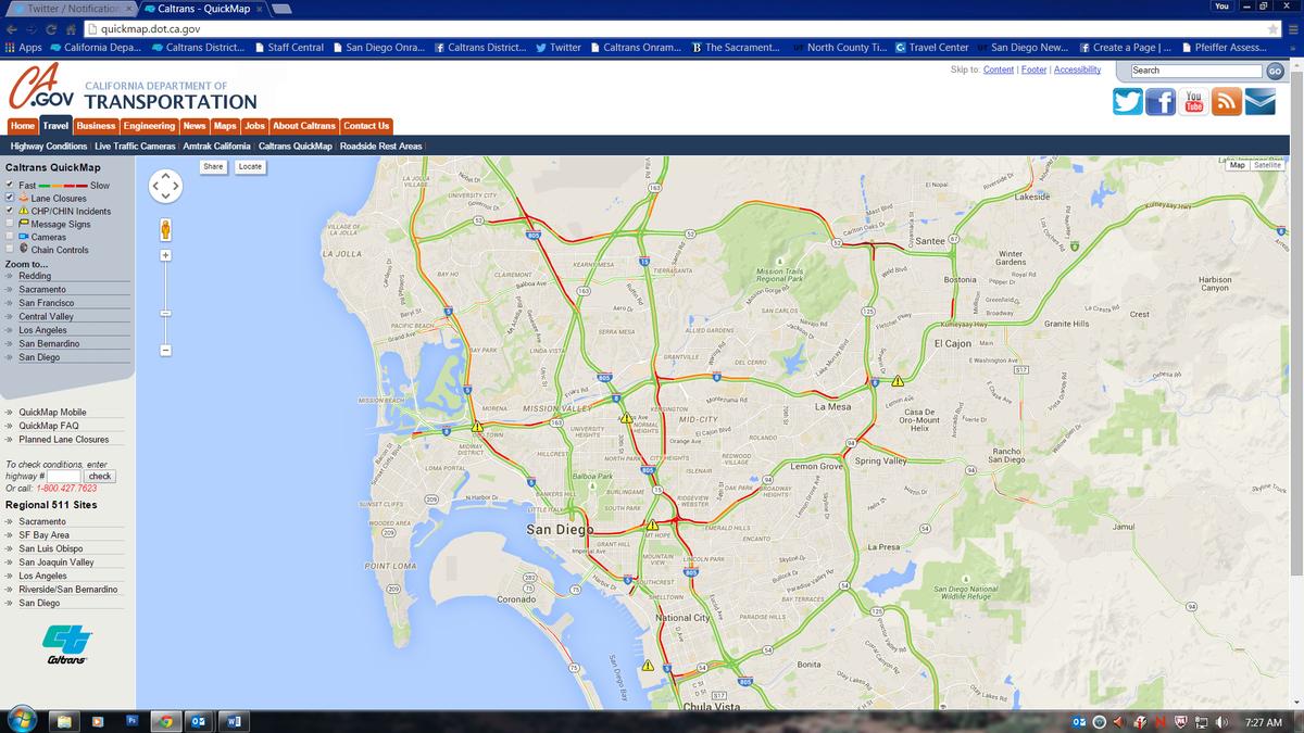 Caltrans Quick Maps on