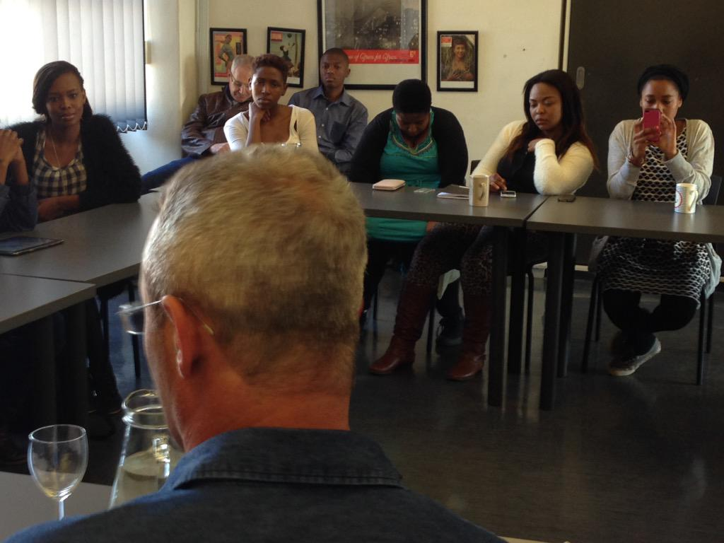 Leading Israeli author Eshkol Nevo speaking to students at Wits University as part of his tour of South Africa