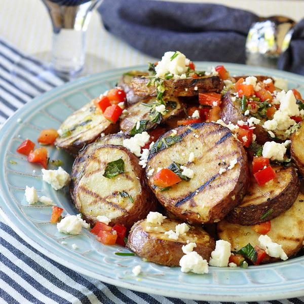Grilled Potato Salad w/ Lemon & Oregano - ideal with anything from the grill http://t.co/ha9Daz2ZsV #Foodie #FoodPorn http://t.co/WNCfdQzerg