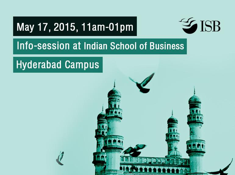 Meet Team Admissions in #Hyderabad on May 17, 2015 for the #ISBPGP Infosession. Register here: http://t.co/EUGKW8jVB2 http://t.co/03yPjq7Lzw