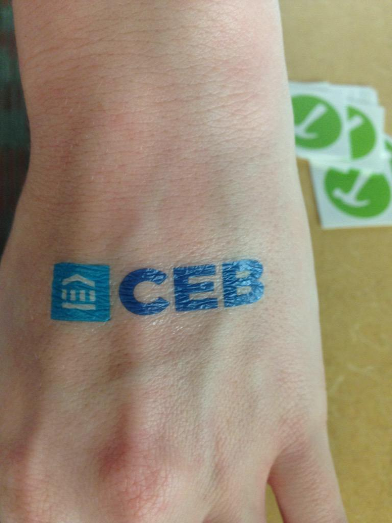 Getting our tattoo game on point over at @foodandfriends #CEBGivesBack http://t.co/1ywsqvg1J5