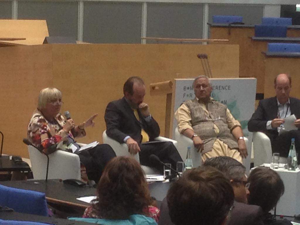 """We have to start at home!"" Claudia Roth, talking about #SDGs @BundestagBerlin  @Die_Gruenen #BonnConference http://t.co/f4j1K0PNXm"