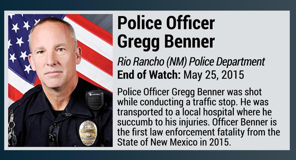 New Mexico officer Gregg Benner shot and killed during traffic stop