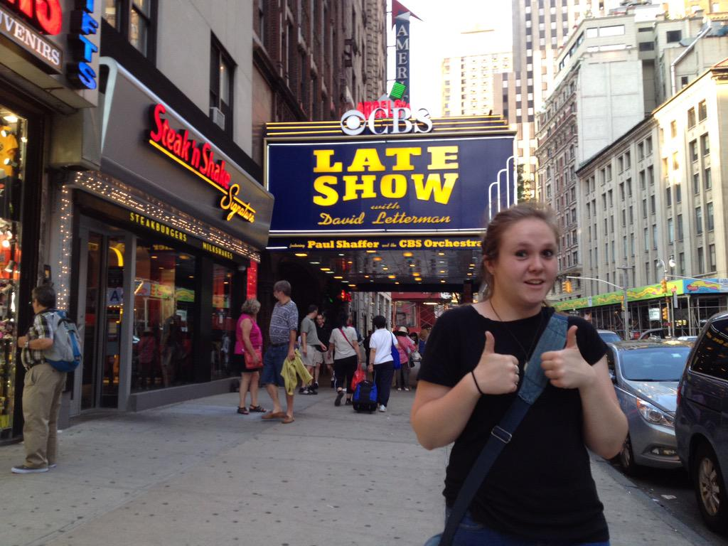 The day before my interview for the @Letterman internship, aka the best 5 months of my life. #thanksdave http://t.co/KbSLCMSg49