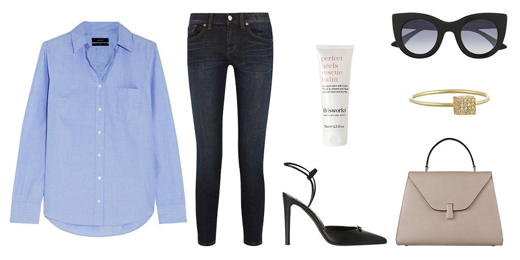 Channel '50s chic in cropped denim, a crisp shirt completes the clean-cut look. #THEEDIT  http://t.co/hSBKI58iBF http://t.co/OrdXtWjx8L
