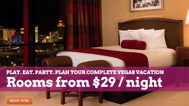 Play. Eat. Party. Plan your complete #VegasVacation now. Rooms from $29/night http://t.co/F0CFvQ8ZAF http://t.co/WUHwNqX4Ud