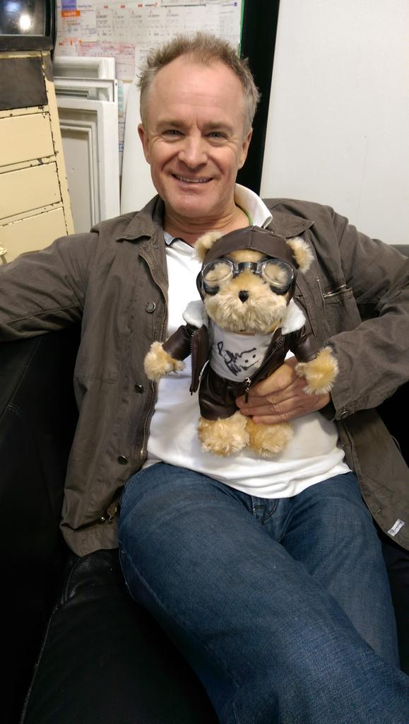 RT @lettalentfly: @BobbyDavro1 with our special flying teddy signed by Iron Maiden singer Bruce Dickinson @Cardiff_Airport @IronMaiden http…