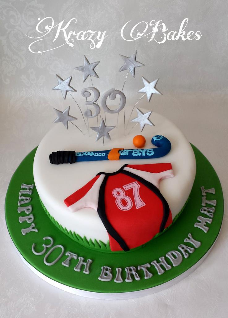 Krazy Bakes On Twitter Field Hockey Themed 30th Birthday Cake Http