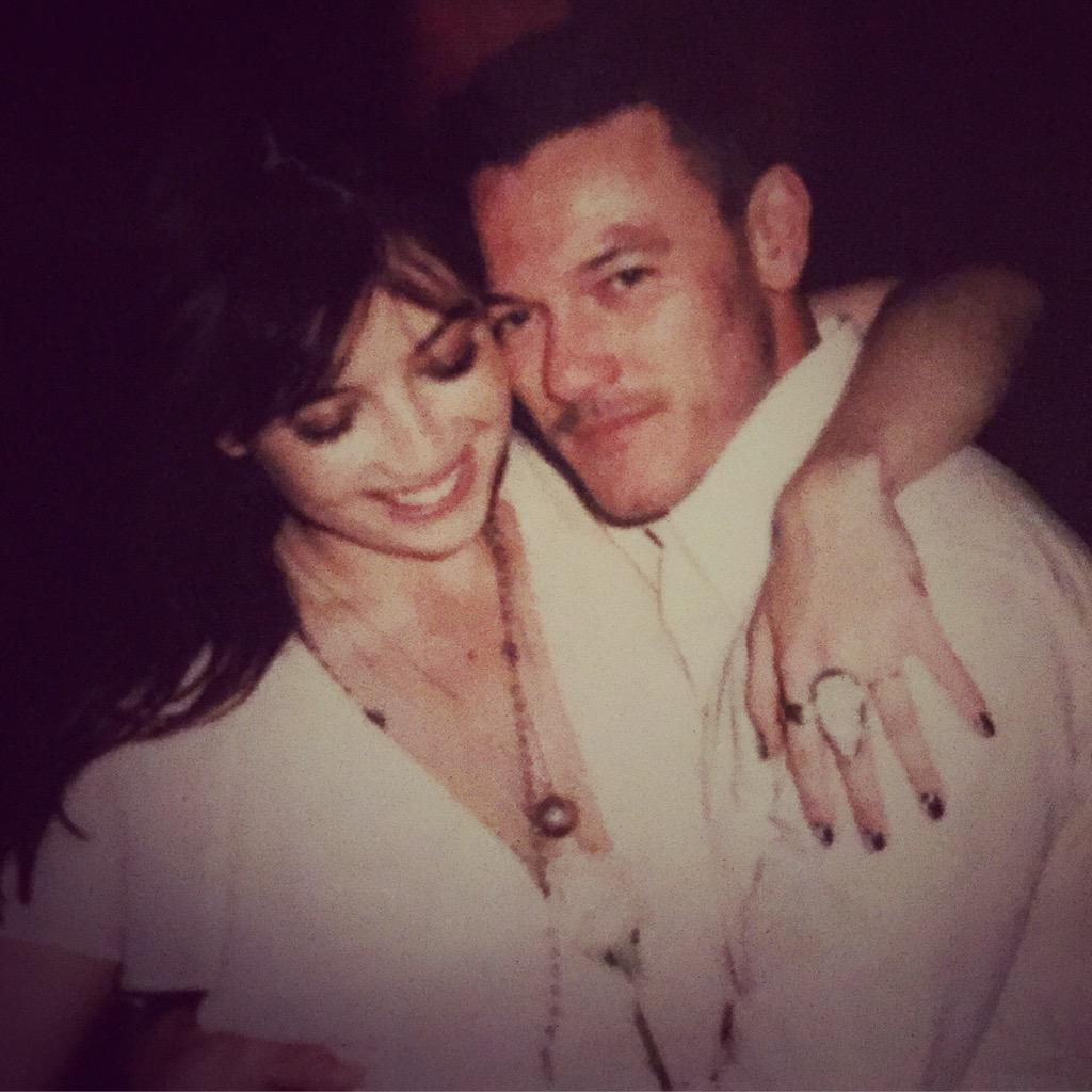 Always the happiest with my arms around @TheRealLukevans #annaroseandjason http://t.co/gSLRTFkfZp