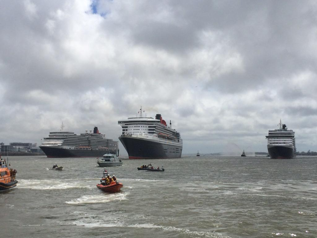 Liverpool, our #3Queens salute you! #Cunard175 http://t.co/28TJQh0EnH