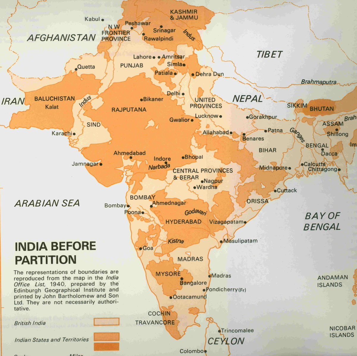 Rare Historical On Twitter British India In 1947 Showing