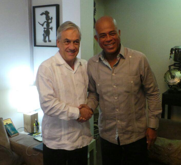 Avec l'Ex Président du Chili, M. Sebastián Piñera, au Palais National http://t.co/0q36jd2i7t