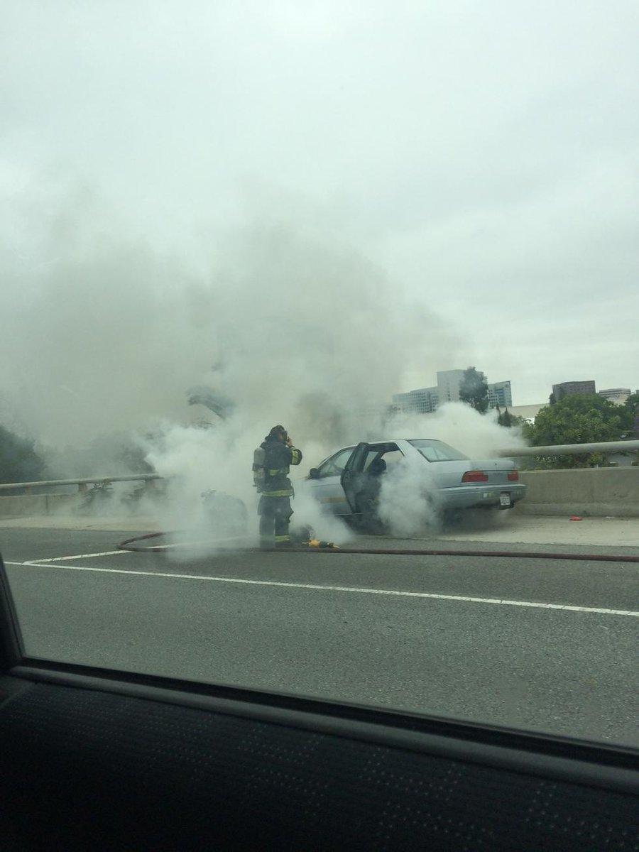 Car: #BREAKING: Car fire NB 280 on 87 Offramp in San Jose
