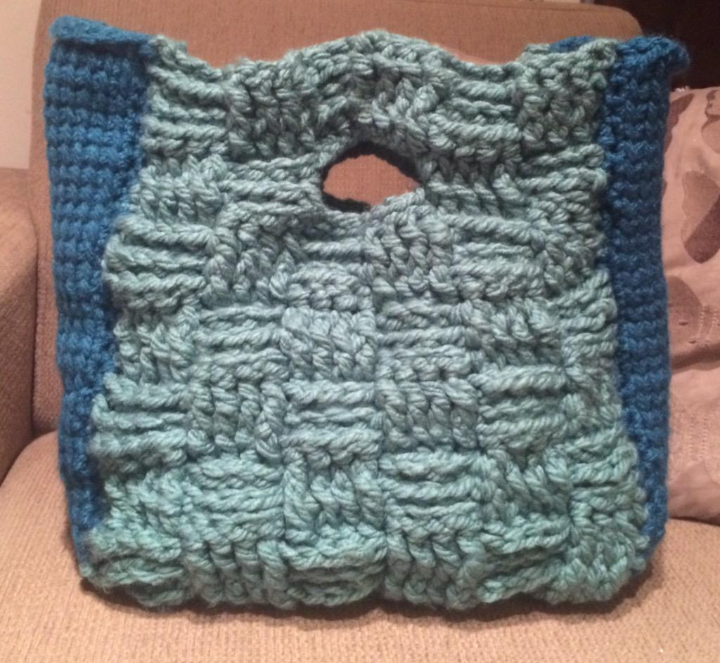 Cup Of Crochet On Twitter Basket Weave Crochet Bag With Tunisian
