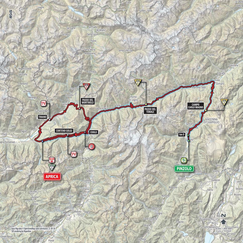 Diretta/ Giro d Italia 2015 sedicesima tappa Pinzolo-Aprica: percorso, altimetria e classifica (oggi 26 maggio)