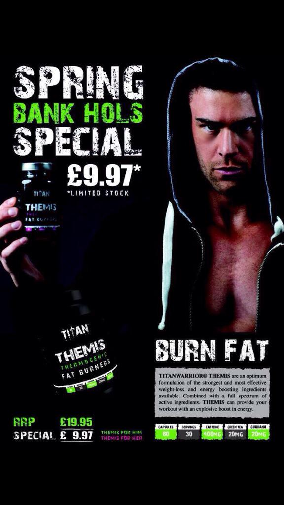 2 hours left on our half price FAT BURNERS just 9.97 @ http://t.co/4XLya8JzUF @IamTitanWarrior http://t.co/aw6WSW4CMX